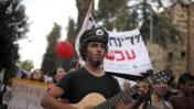 מחאה נגד מחירי הדיור, אתמול בירושלים (צילום: ליאור מזרחי)