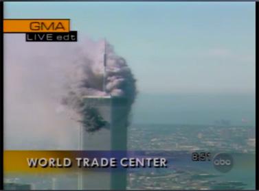 חדשות ABC, בוקרו של ה-11 בספטמבר 2001 (צילום מסך: ABC)