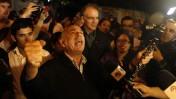 חגיגה מחוץ למאהל שליט, אמש בירושלים (צילום: ליאור מזרחי)