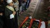 """גופות אנשי הג'יהאד-האסלאמי שנהרגו בידי צה""""ל, אתמול ברפיח (צילום: עבד רחים חטיב)"""