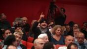 """קריאות ביניים ב""""כנס החירום למען תקשורת חופשית"""", שנערך בתחילת השבוע (צילום: מתניה טאוסיג)"""