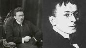 קארל קראוס (מימין: ב-1914 וב-1900. צילומים: נחלת הכלל)