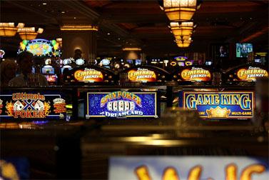 מכונות הימורים בקזינו בוונשיאן של אדלסון בלאס-וגאס (צילום: דניאל, cc-by-nc-sa)