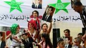 הפגנה של תומכי המשטר הסורי בסידני, אוסטרליה, לאחר הטלת הסנקציות הבינלאומיות על סוריה, אתמול (צילום: ניוטון גרפיטי, cc-by)