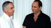 """מנהל קול-ישראל מיקי מירו (משמאל) ויו""""ר רשות השידור אמיר גילת (צילום: """"העין השביעית"""")"""
