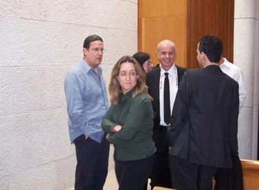 """אילנה דיין בבית-המשפט העליון, בזמן דיון בערעור בתיק סרן ר', 7.2.11 (צילום: """"העין השביעית"""")"""