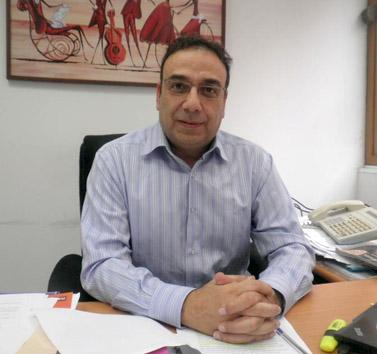 """ניצן חן, יו""""ר מועצת הכבלים והלוויין, במשרדו בשבוע שעבר (צילום: """"העין השביעית"""")"""