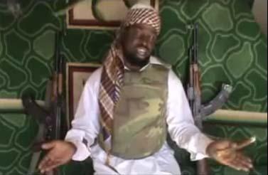 מנהיג בוקו-האראם, אבובקר שיאקו, במסר מצולם (צילום מסך)