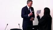 בלייר נשבע לפני עדותו בפני ועדת לוונסון, 28.5.12