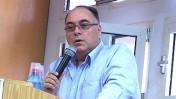 """דובר צה""""ל לשעבר אבי בניהו, היום בכנס באוניברסיטת בר-אילן (צילום: """"העין השביעית"""")"""