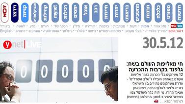 כותרת ראשית באתר ynet