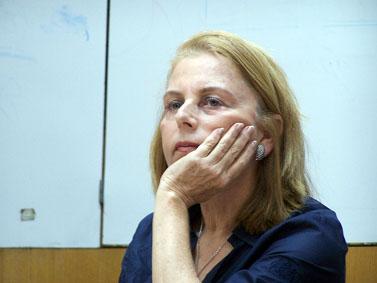 """הצנזורית הראשית לשעבר רחל דולב, היום בכנס באוניברסיטת בר-אילן (צילום: """"העין השביעית"""")"""