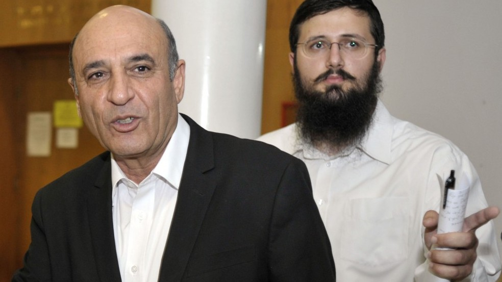 """יו""""ר קדימה שאול מופז בישיבה בירושלים, אתמול (צילום: יואב ארי דודקביץ')"""