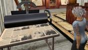 """מכונת דפוס להדפסת עיתונים ביקום הווירטואלי של """"סקנד לייף"""" (צילום: אמי ב', רישיון cc-by-sa)"""