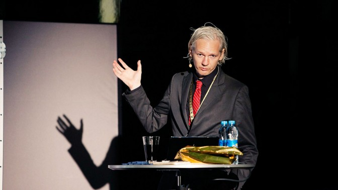 ג'וליאן אסאנג', מייסד ויקיליקס. קופנהגן, 2009 (צילום: www.newmediadays.com / Peter Erichsen)