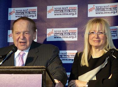 """שלדון ומרים אדלסון. ירושלים, פברואר 2011 (צילום: """"העין השביעית"""")"""