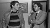 """מזכיר הממשלה יוסי ביילין ויועץ ראש הממשלה לענייני טרור עמירם ניר (משמאל), 31.12.1984 (צילום: נתי הרניק, לע""""מ)"""