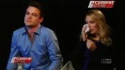מייקל כריסטיאן ומל גרייג מתראיינים לערוץ 9 האוסטרלי לאחר היוודע דבר התאבדותה של קורבן המתיחה שלהם (צילום מסך)