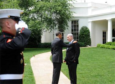"""פגישת נתניהו-אובמה, אתמול (צילום: אבי אוחיון, לע""""מ)"""