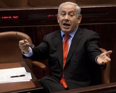 ראש הממשלה בנימין נתניהו בכנסת, נובמבר 2011 (צילום: דוד ועקנין)
