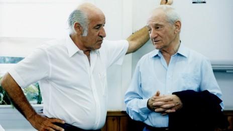 דב יודקובסקי (מימין) ושייקה בן-פורת (צילום: משה שי)