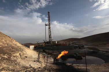 קידוח נפט ליד ים המלח (צילום: צפריר אביוב)