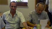 """יו""""ר הרשות אמיר גילת (משמאל) ומנכ""""ל הרשות הקודם מרדכי שקלאר (צילום: דוברות רשות השידור)"""