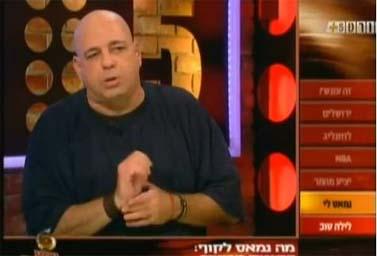 רון קופמן בערוץ הספורט (צילום מסך)