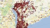 """חלק מהמפה שפירסם ה""""ג'ורנל ניוז"""" באתר האינטרנט שלו (צילום מסך)"""