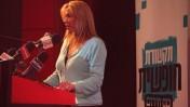 אילה חסון בכנס התקשורת, השבוע (צילום: מתניה טאוסיג)