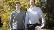 ראשי עמותת אם-תרצו רונן שובל (מימין) וארז תדמור, ירושלים 2011 (צילום: דוד ועקנין)