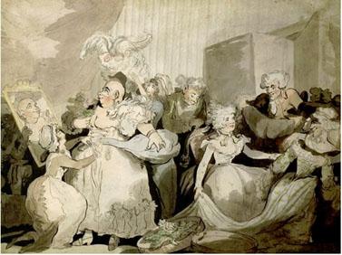 הכנות לנשף מסכות, תומס רולנדסון, 1794