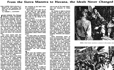 """""""מסיירה מאסטרה ועד להוואנה, האידיאלים לא השתנו"""", כתבה ב""""ניו-יורק טיימס"""" על המהפכה הקובנית, 5 באפריל 1959"""