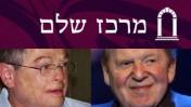 """פרשן חדשות ערוץ 2 אמנון אברמוביץ' (משמאל) ואיל ההון שלדון אדלסון (צילום: """"העין השביעית"""")"""