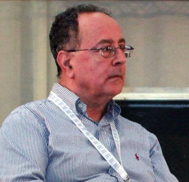 """יהודה שרוני, עיתונאי """"מעריב"""", אתמול בכנס בים-המלח (צילום: יוסי זמיר)"""