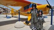 ילדים מבלים במוזיאון חיל האוויר, אתמול (צילום: שי לוי)
