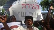 הפגנת פליטים, אתמול בתל-אביב (צילום: רוני שיצר)