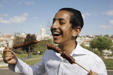 חגיגות פסח, אתמול בירושלים (צילום: אורן נחשון)