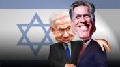 """מיט רומני, המועמד הרפבוליקאי לנשיאות ארה""""ב, ובנימין נתניהו, ראש ממשלת ישראל (קריקטורה: DonkeyHotey, רישיון CC BY-SA 2.0)"""