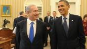 """נשיא ארה""""ב ברק אובמה וראש ממשלת ישראל בנימין נתניהו בבית-הלבן, מרץ 2012 (צילום: עמוס בן-גרשום, לע""""מ)"""