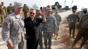 שר הביטחון אהוד ברק במהלך תרגיל ישראלי-אמריקאי, אתמול (צילום: ליאור מזרחי)