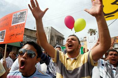 הפגנה לרגל יום האדמה ביפו, 28 במרץ (צילום: פלאש 90)