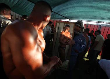 תחרות פיתוח גוף, שלשום בעזה (צילום: ויסאם נסאר)