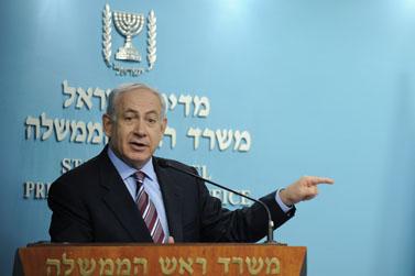 ראש הממשלה בנימין נתניהו במסיבת עיתונאים, אתמול בירושלים (צילום: יואב ארי דודקביץ')
