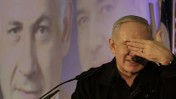 ראש הממשלה בנימין נתניהו מדבר אל יוצאי ברית-המועצות בכנס בחירות באשדוד (צילום: צפריר אביוב)