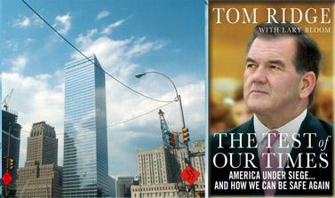 """עטיפת הספר (מימין) ו""""גראונד זירו"""" בניו-יורק (צילום: סרג' אטאל)"""