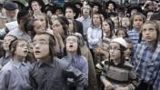 הפגנת חרדים נגד הכוונה לאכיפה של חובת הגיוס לצבא. מאה-שערים, ירושלים, 25.6.12 (צילום: אורן נחשון)