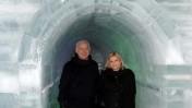 """ראש הממשלה בנימין נתניהו ורעייתו שרה בארמון קרח בירושלים, אתמול (צילום: אבי אוחיון, לע""""מ)"""