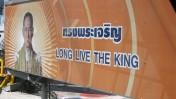 כרזת תמיכה במלך תאילנד. נמל התעופה של בנגקוק, 2006 (צילום: abrilon, רשיון cc-by-nc-nd)