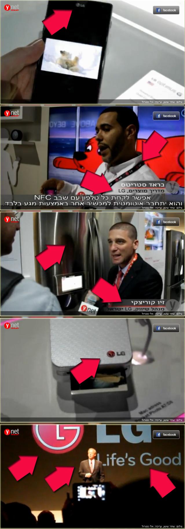 מתוך כתבה על כנס CES ב-ynet (צילום מסך מעובד)
